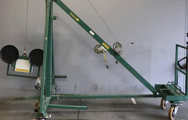 Uitschuifbare hijswagen 200 kg.